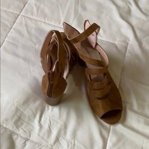 Suede strapped sandals